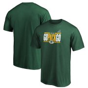 Wholesale Cheap Green Bay Packers 2019 NFL Playoffs Bound Hometown Checkdown T-Shirt Green