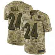 Wholesale Cheap Nike Bengals #24 Vonn Bell Camo Youth Stitched NFL Limited 2018 Salute To Service Jersey