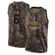 Cheap Youth Lakers #6 LeBron James Camo Basketball Swingman Realtree Collection Jersey