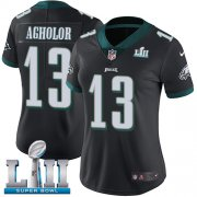 Wholesale Cheap Nike Eagles #13 Nelson Agholor Black Alternate Super Bowl LII Women's Stitched NFL Vapor Untouchable Limited Jersey