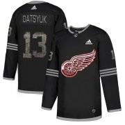 Wholesale Cheap Adidas Red Wings #13 Pavel Datsyuk Black Authentic Classic Stitched NHL Jersey