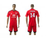 Wholesale Cheap Lyon #14 Clinton Away Soccer Club Jersey