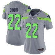 Wholesale Cheap Nike Seahawks #22 Quinton Dunbar Gray Women's Stitched NFL Limited Inverted Legend Jersey
