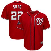 Wholesale Cheap Washington Nationals #22 Juan Soto Majestic 2019 World Series Champions Alternate Big & Tall Cool Base Player Jersey Red