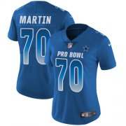 Wholesale Cheap Nike Cowboys #70 Zack Martin Royal Women's Stitched NFL Limited NFC 2018 Pro Bowl Jersey