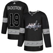 Wholesale Cheap Adidas Capitals #19 Nicklas Backstrom Black Authentic Team Logo Fashion Stitched NHL Jersey