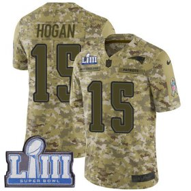 Wholesale Cheap Nike Patriots #15 Chris Hogan Camo Super Bowl LIII Bound Men\'s Stitched NFL Limited 2018 Salute To Service Jersey
