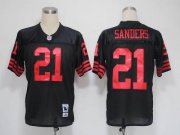 Wholesale Cheap Mitchell and Ness 49ers #21 Deion Sanders Black Stitched NFL Jersey