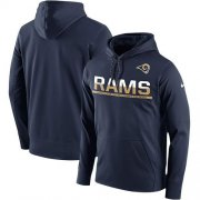 Wholesale Cheap Men's Los Angeles Rams Nike Navy Sideline Circuit Pullover Performance Hoodie