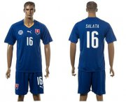 Wholesale Cheap Slovakia #16 Salata Blue Away Soccer Country Jersey