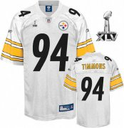 Wholesale Cheap Steelers #94 Lawrence Timmons White Super Bowl XLV Stitched NFL Jersey