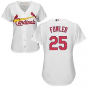 Wholesale Cheap Cardinals #25 Dexter Fowler White Home Women's Stitched MLB Jersey