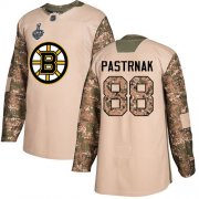 Wholesale Cheap Adidas Bruins #88 David Pastrnak Camo Authentic 2017 Veterans Day Stanley Cup Final Bound Stitched NHL Jersey