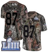 Wholesale Cheap Nike Patriots #87 Rob Gronkowski Camo Super Bowl LIII Bound Youth Stitched NFL Limited Rush Realtree Jersey