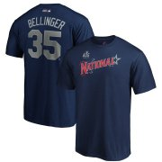 Wholesale Cheap National League #35 Cody Bellinger Majestic 2019 MLB All-Star Game Name & Number T-Shirt - Navy