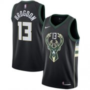 Wholesale Cheap Nike Milwaukee Bucks #13 Malcolm Brogdon Black NBA Swingman Statement Edition Jersey