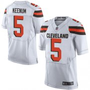 Wholesale Cheap Nike Browns #5 Case Keenum White Men's Stitched NFL New Elite Jersey
