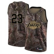Wholesale Cheap Women's Nike Los Angeles Lakers #23 LeBron James Camo NBA Swingman Realtree Collection Jersey