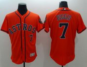 Wholesale Astros #7 Craig Biggio Orange Flexbase Authentic Collection Stitched Baseball Jersey