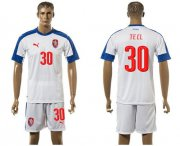Wholesale Cheap Czech #30 Tecl Away Soccer Country Jersey