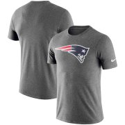 Wholesale Cheap New England Patriots Nike Essential Logo Dri-FIT Cotton T-Shirt Heathered Charcoal