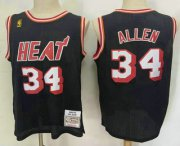 Wholesale Cheap Men's Miami Heat #34 Ray Allen Black 2012-13 Hardwood Classics Soul Swingman Throwback Jersey