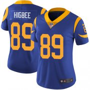 Wholesale Cheap Nike Rams #89 Tyler Higbee Royal Blue Alternate Women's Stitched NFL Vapor Untouchable Limited Jersey