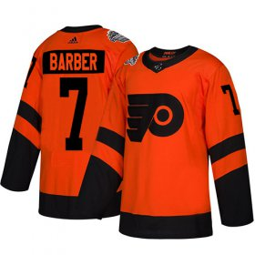 Wholesale Cheap Adidas Flyers #7 Bill Barber Orange Authentic 2019 Stadium Series Women\'s Stitched NHL Jersey