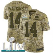 Wholesale Cheap Nike Chiefs #14 Sammy Watkins Camo Super Bowl LIV 2020 Youth Stitched NFL Limited 2018 Salute To Service Jersey