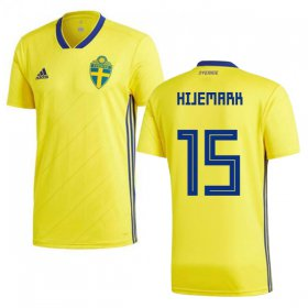 Wholesale Cheap Sweden #15 Hijemark Home Soccer Country Jersey