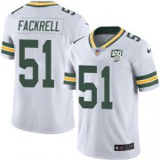 Wholesale Cheap Nike Packers #51 Kyler Fackrell White Men's 100th Season Stitched NFL Vapor Untouchable Limited Jersey