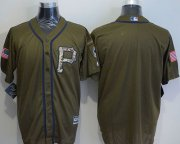 Wholesale Cheap Pirates Blank Green Salute to Service Stitched MLB Jersey
