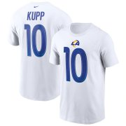 Wholesale Cheap Los Angeles Rams #10 Cooper Kupp Nike Team Player Name & Number T-Shirt White