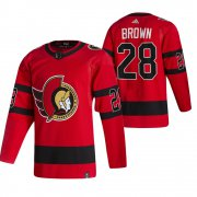 Wholesale Cheap Ottawa Senators #28 Connor Brown Red Men's Adidas 2020-21 Reverse Retro Alternate NHL Jersey