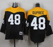 Wholesale Cheap Mitchell And Ness 1967 Steelers #48 Bud Dupree Black/Yelllow Throwback Men's Stitched NFL Jersey