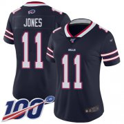 Wholesale Cheap Nike Bills #11 Zay Jones Navy Women's Stitched NFL Limited Inverted Legend 100th Season Jersey