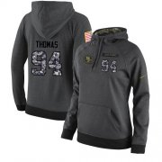 Wholesale Cheap NFL Women's Nike San Francisco 49ers #94 Solomon Thomas Stitched Black Anthracite Salute to Service Player Performance Hoodie