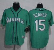 Wholesale Cheap Mariners #15 Kyle Seager Green New Cool Base Stitched MLB Jersey