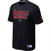 Wholesale Cheap Los Angeles Angels Nike Short Sleeve Practice MLB T-Shirt Black