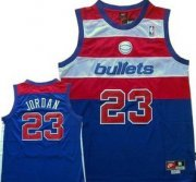 Wholesale Cheap Washington Bullets #23 Michael Jordan Blue Swingman Throwback Jersey