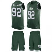 Wholesale Cheap Nike Jets #92 Leonard Williams Green Team Color Men's Stitched NFL Limited Tank Top Suit Jersey