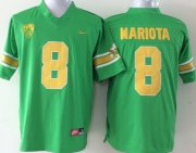 Wholesale Cheap Oregon Ducks #8 Marcus Mariota 1994 Green Throwback 20TH Jersey