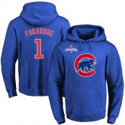 Wholesale Cheap Cubs #1 Kosuke Fukudome Blue 2016 World Series Champions Primary Logo Pullover MLB Hoodie