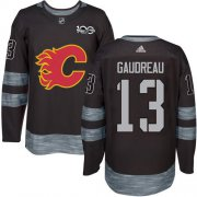 Wholesale Cheap Adidas Flames #13 Johnny Gaudreau Black 1917-2017 100th Anniversary Stitched NHL Jersey