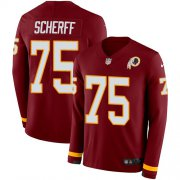 Wholesale Cheap Nike Redskins #75 Brandon Scherff Burgundy Red Team Color Men's Stitched NFL Limited Therma Long Sleeve Jersey