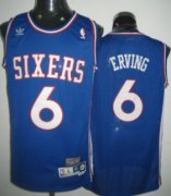 Wholesale Cheap Philadelphia 76ers #6 Julius Erving Blue Swingman Throwback Jersey
