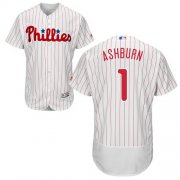Wholesale Cheap Phillies #1 Richie Ashburn White(Red Strip) Flexbase Authentic Collection Stitched MLB Jersey
