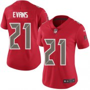 Wholesale Cheap Nike Buccaneers #21 Justin Evans Red Women's Stitched NFL Limited Rush Jersey