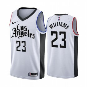 Wholesale Cheap Nike Clippers #23 Lou Williams 2019-20 White Los Angeles City Edition NBA Jersey