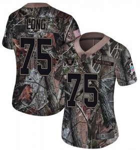 Wholesale Cheap Nike Raiders #75 Howie Long Camo Women\'s Stitched NFL Limited Rush Realtree Jersey